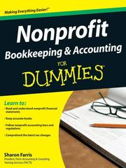 Cover of: Nonprofit Bookkeeping & Accounting For Dummies® |