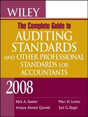Cover of: Wiley The Complete Guide to Auditing Standards, and Other Professional Standards for Accountants 2008 |
