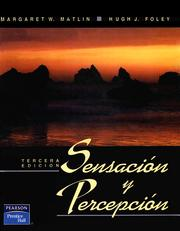 Cover of: Sensacion y Percepcion by Margaret W Matlin