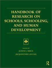 Cover of: Handbook of Research on Schools, Schooling and Human Development | Judith Meece