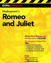 Cover of: CliffsCompleteTM Romeo and Juliet |