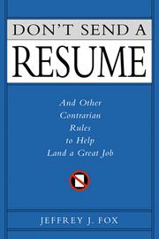 Cover of: Don't Send a Resume |