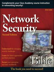 Cover of: Network Security Bible |