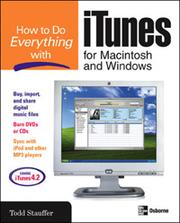 Cover of: How to Do Everything with iTunes for Macintosh and Windows |