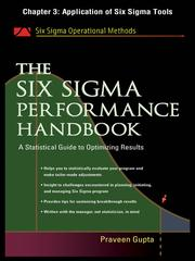 Cover of: Application of Six Sigma Tools |