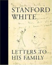 Cover of: Stanford White : Letters to His Family