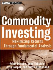 Cover of: Commodity Investing |