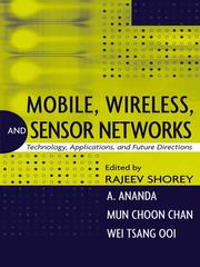 Cover of: Mobile, Wireless, and Sensor Networks |
