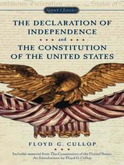 Cover of: The Declaration of Independence and Constitution of the Unit |