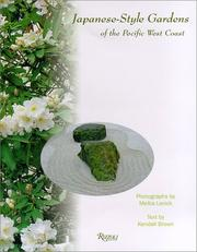 Cover of: Japanese-style gardens of the Pacific west coast