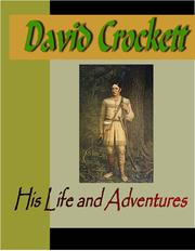 Cover of: David Crocket:  His Life and Adventures |