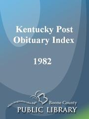 Cover of: Kentucky Post Obituary Index, 1982 |