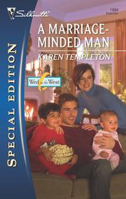 Cover of: A Marriage-Minded Man | Karen Templeton