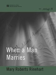 Cover of: When a Man Marries |