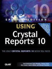 Cover of: Special Edition Using Crystal Reports 10 |