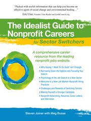 Cover of: The Idealist Guide to Nonprofit Careers for Sector Switchers |