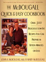 Cover of: The McDougall Quick and Easy Cookbook |