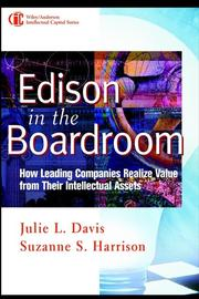 Cover of: Edison in the Boardroom