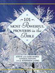 Cover of: 101 Most Powerful Proverbs in the Bible |