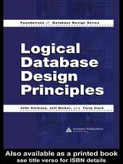 Cover of: Logical Database Design Principles |