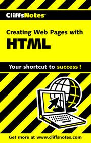 Cover of: CliffsNotes Creating Web Pages with HTML |