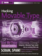 Cover of: Hacking Movable Type |
