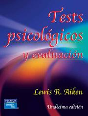 Cover of: Test psicologicos y evaluacion by
