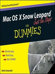 Cover of: Mac OS X Snow Leopard Just the Steps For Dummies