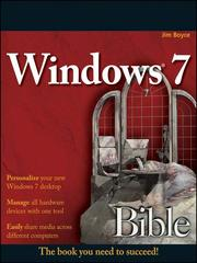 Cover of: Windows 7 Bible |