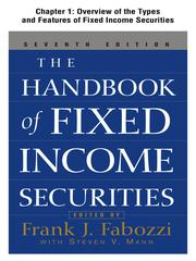Cover of: Overview of the Types and Features of Fixed Income Securities by Frank Fabozzi