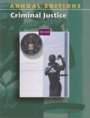 Cover of: Criminal justice, 03/04