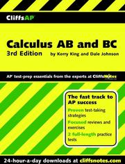 Cover of: CliffsAPTM Calculus AB and BC