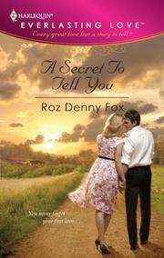 Cover of: A Secret To Tell You |