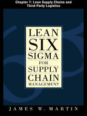 Cover of: Lean Supply Chains and Third Party Logistics |