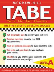 Cover of: TABE (Test of Adult Basic Education) Level A |