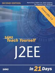 Cover of: Sams Teach Yourself J2EE in 21 Days