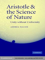 Cover of: Aristotle & the Science of Nature |