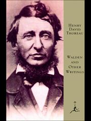 Cover of: Walden and Other Writings |