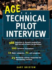 Cover of: Ace the Technical Pilot Interview |