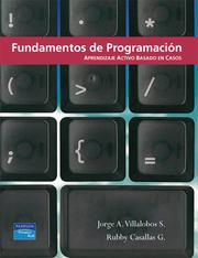 Cover of: Fundamentos de Programacion by Jorge A. Villalobos S