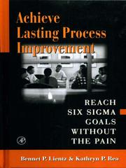 Cover of: Achieve Lasting Process Improvement |