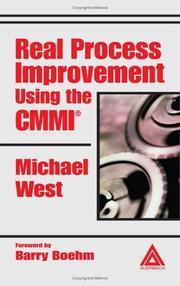 Cover of: Real Process Improvement Using the CMMI