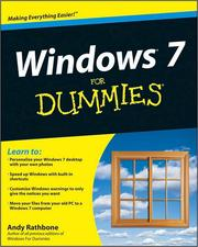 Cover of: Windows 7 For Dummies by Andy Rathbone