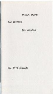 Cover of: Two Reviews: for jwcurry