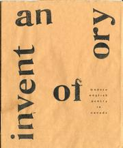 Cover of: An Inventory of Modern English Poetry in Canada