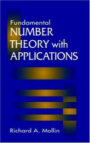 Cover of: Fundamental number theory with applications