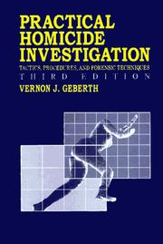 Cover of: Practical homicide investigation