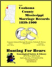 Cover of: Early Coahoma County Mississippi Marriage Records Vol 2 1839-1900