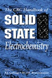 Cover of: The CRC handbook of solid state electrochemistry |