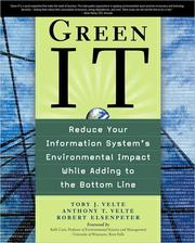 Cover of: Green IT | Toby J. Velte